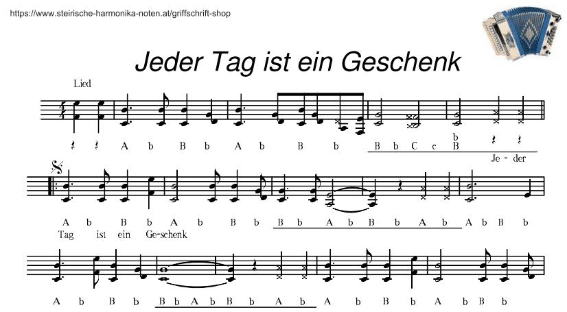Jeder Tag ist ein Geschenk (Lied)Steirische-Harmonika