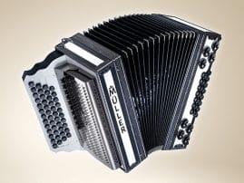 Müller Harmonika - Modell Carbon Weiss